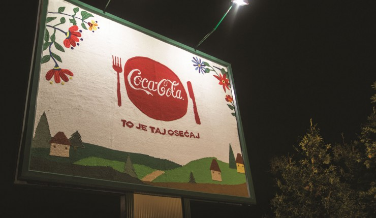 COCA-COLA'S FIRST KNITTED BILLBOARD IN THE WORLD!